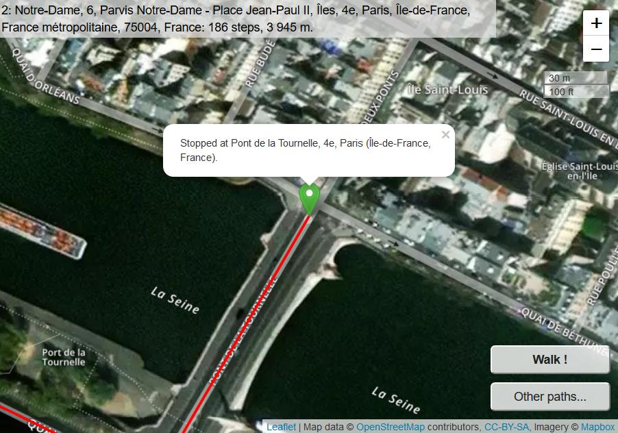 Random path in Paris